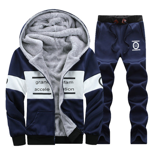 Hooded Regular Vintage Alphabet Men's Sports Suit