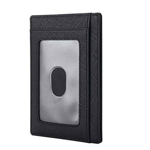 Card Package Leather Plain Men's Wallets