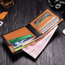Multi-function Silk Print Short Style Men's Wallets