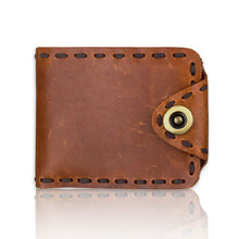 Retro Card Position Genuine Leather Men's Wallets