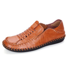 Woven Cowhide Breathable Business Men's Casual Shoes