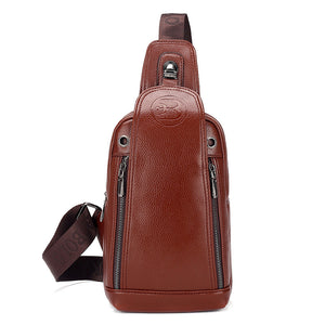 Leather Multifunction  Anti Theft Men's Crossbody Bags