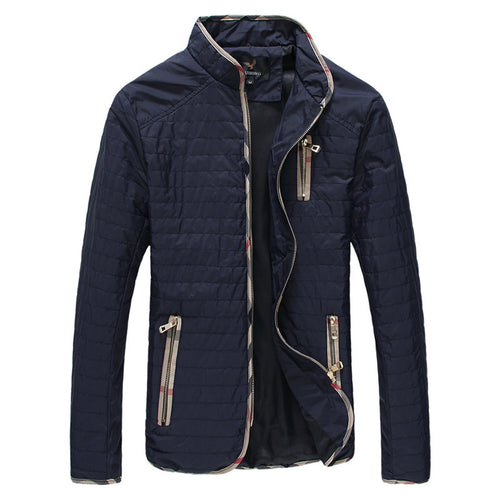Plus Size Comfort Home Squares Men's Jacket