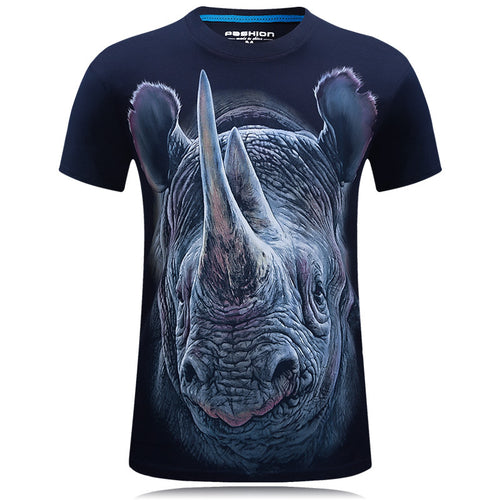 3D Animal Personality Short-sleeve Printing Men's T-shirt