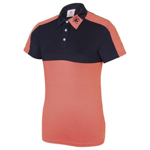 Chinnydipper Girls IZZY Girls Polo (Coral/Navy)