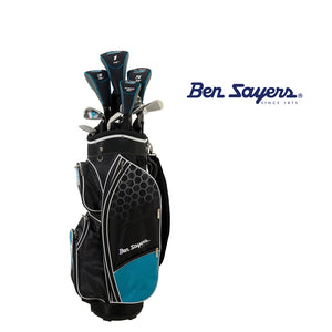 * Ben Sayers M8 Package Set Youths'/Ladies Graphite Shaft (Turquoise/Sky Blue)