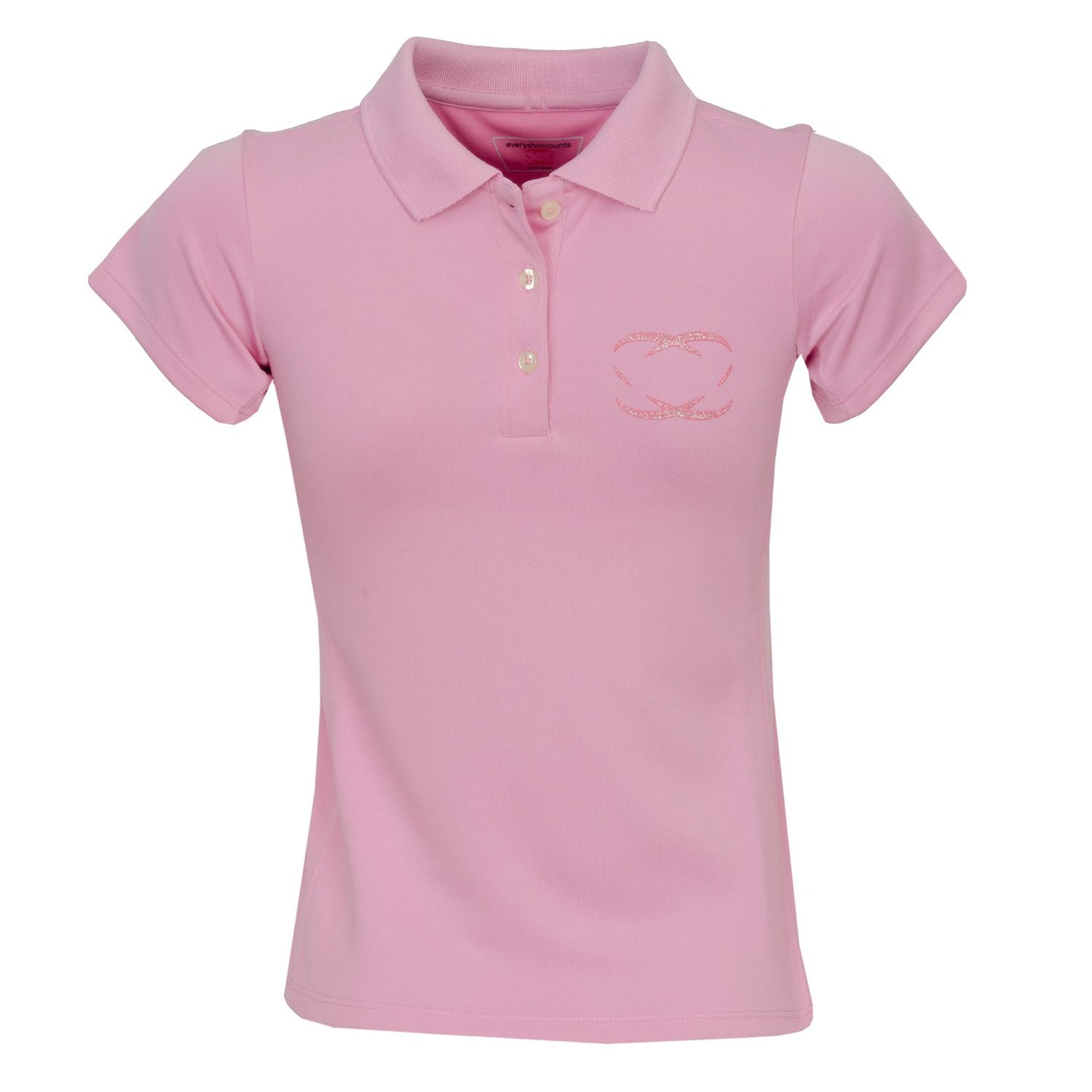 Every Shot Counts - Kingsbarns Girls Golf Polo Shirt (Pink)