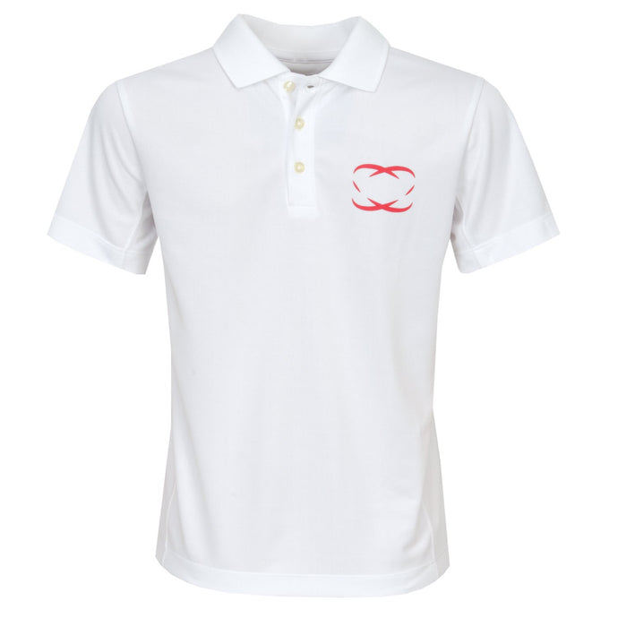 Every Shot Counts Lytham Girls Golf Polo Shirt (White)