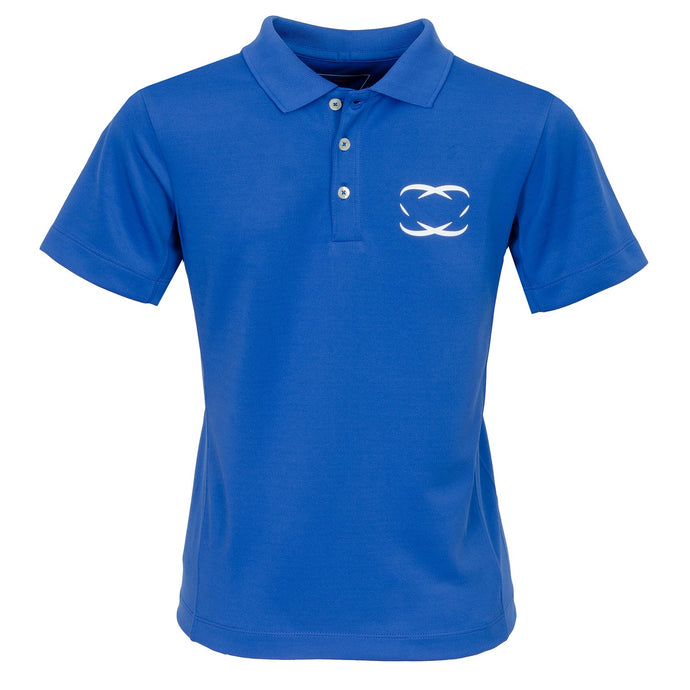 Every Shot Counts - St. Andrews. Boys Golf Polo Shirt (Blue)