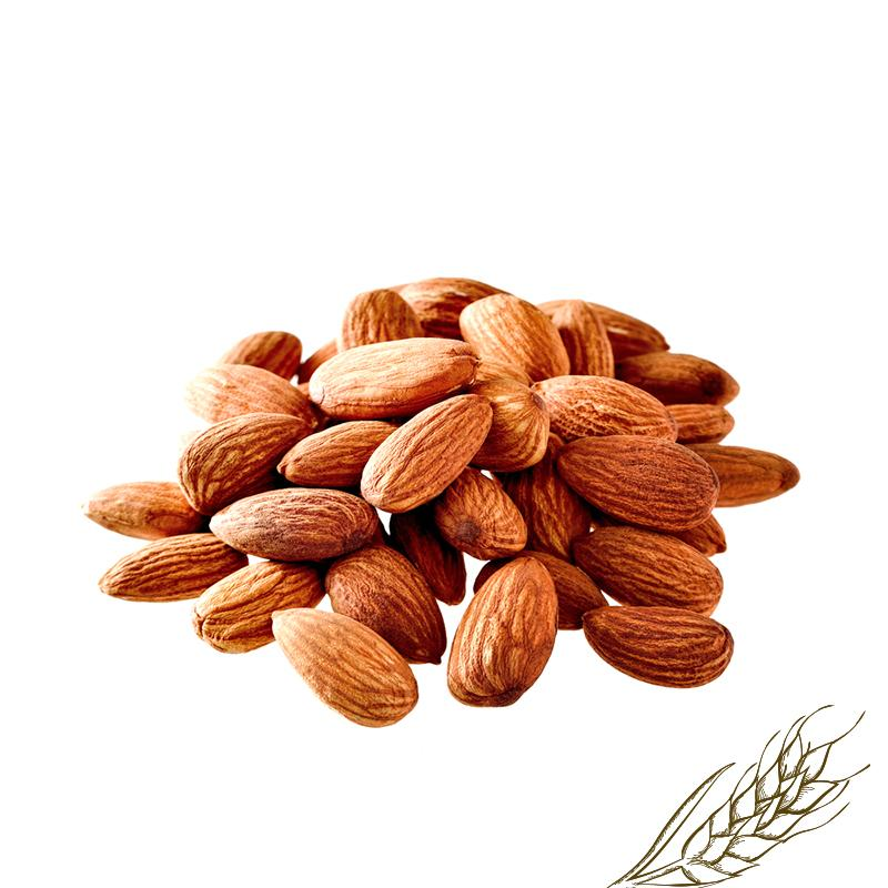 Almonds, whole roasted unsalted