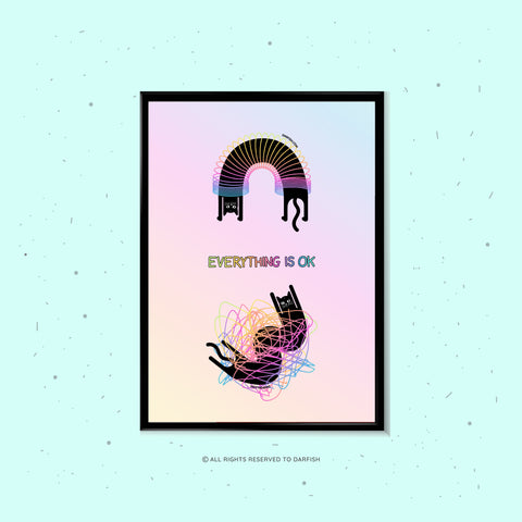 Everything is ok cat A4 Print