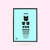 Cat Eye Check A4 Print
