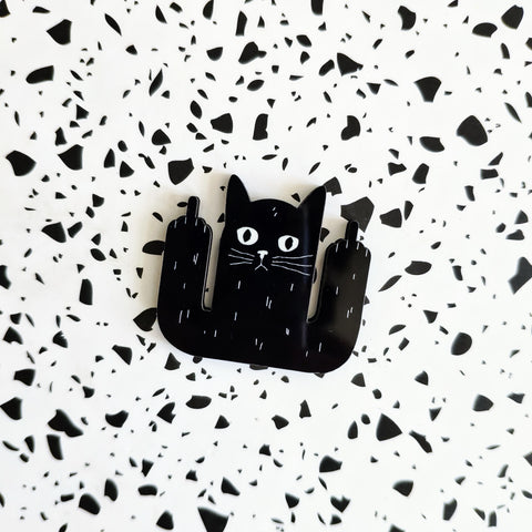 Black Cats Are Awesome wood pin