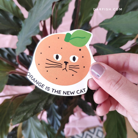 Orange is the new cat sticker