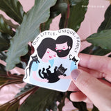 Cat family sticker