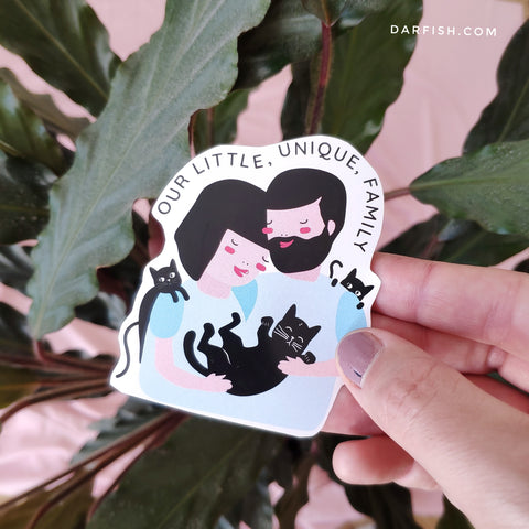 Cat family sticker (ALSO LGBT!)