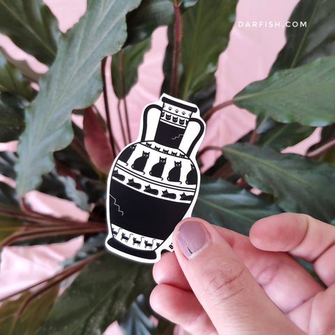 Cats Vase Sticker
