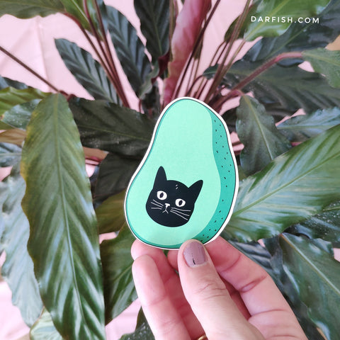 Avocato Cat Sticker