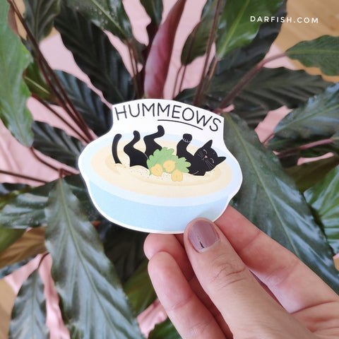 Hummeows cat Sticker