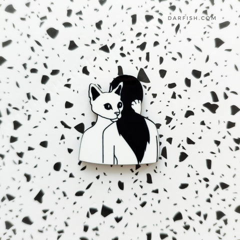 Forever hug cat Pin