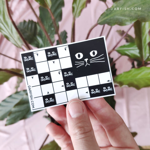 Crosswords cats Sticker