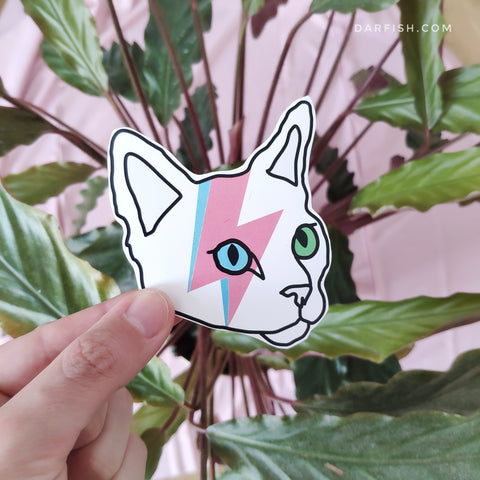 Cat Bowie Sticker