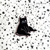 I Feel Fat Cat Wood Pin