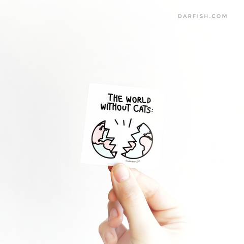 The World Without Cats Sticker