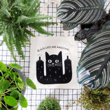 BLACK CATS ARE AWESOME tote bag