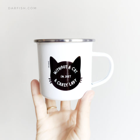 crazy cat lady Enamel Mug