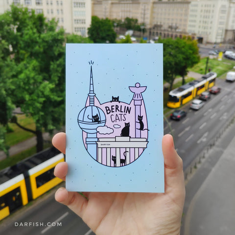 *NEW* Berlin Cats Postcard!