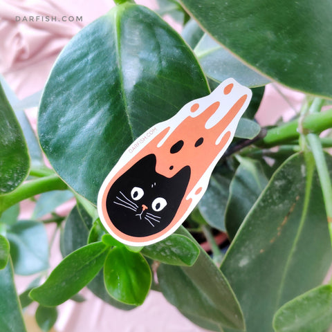 Meteor Cat Sticker