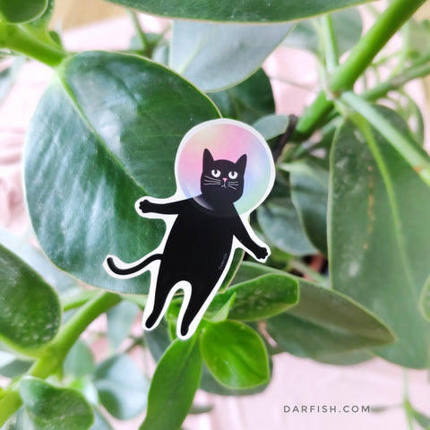 Bubble Cat Sticker