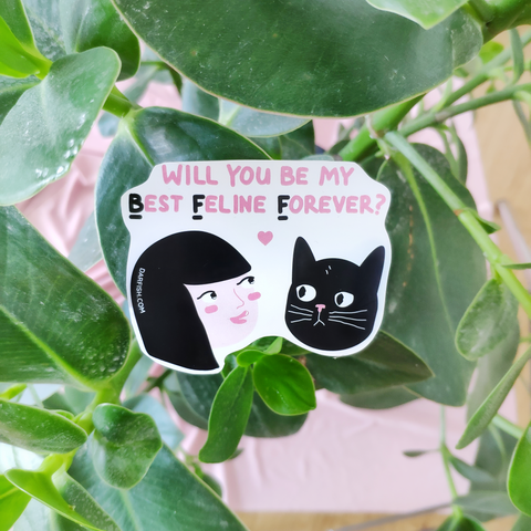 BFF Cat Sticker