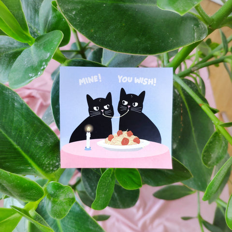 Romantic Dinner Cat Sticker