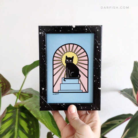 Bastet Cat Framed Postcard
