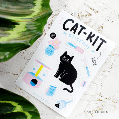Cat Kit Stickers DIY