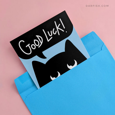 Good luck cat Postcard