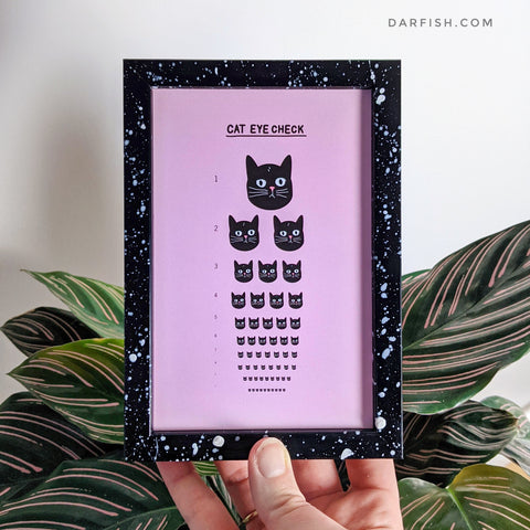 Cat eye check Framed Postcard