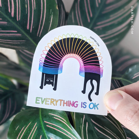 Everything is ok cat Sticker