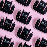 Black cats are awesome Pin (100% recycled premium acrylic)