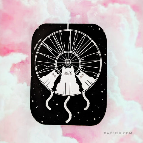 Dreaming about cats / dream catcher Sticker