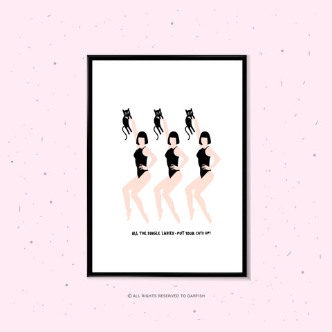 Single Ladies Classic A4 Print