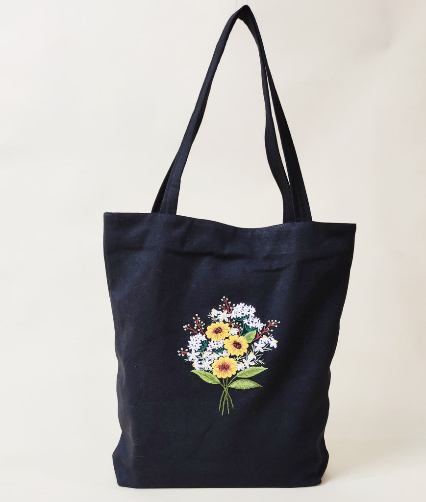Hand Embroidered Tote Bag - BlueTagBridal
