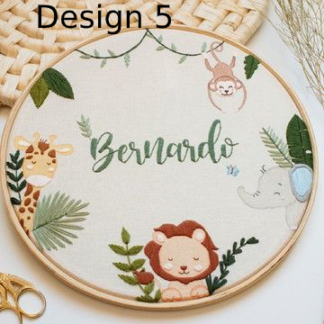 Custom Nursery Embroidery Hoop Art - BlueTagBridal