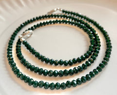 Kirby Chains - Green Beads Face Mask Chain - BlueTagBridal