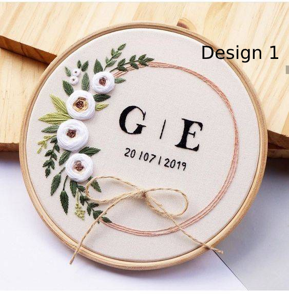 Custom Wedding Embroidery Hoop - BlueTagBridal