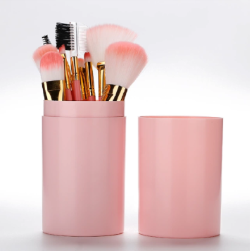 Face2be 12 pcs Professional Makeup Brushes Set Pink