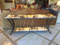 Quartz lighted sofa table