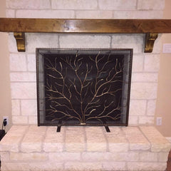 Twig Fireplace Screen